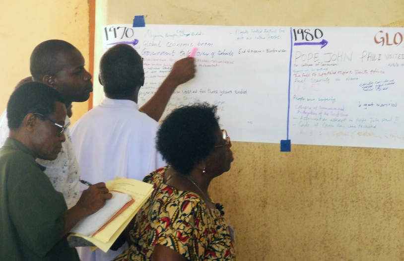 Facilitating the creation of a local/global/personal timeline in Nsukka, Nigeria.