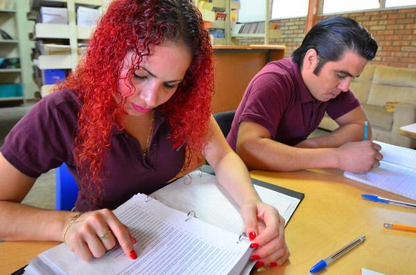 graduate students studying